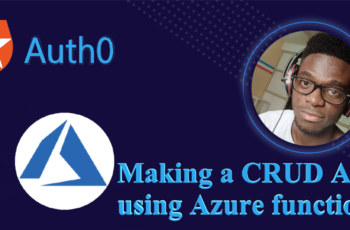 Making a CRUD API using Azure Functions